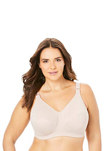 Goddess Women's Plus Size Celeste Soft Cup Full Coverage Wireless Comfort Bra, Fawn, 34L