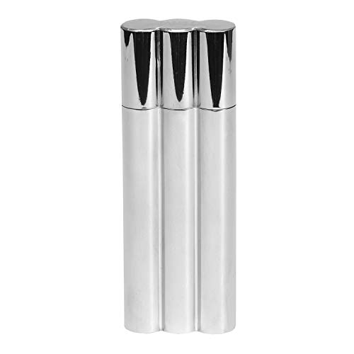 Bey-Berk Double Cigar Tube with 2 oz. Flask, One Size, Grey