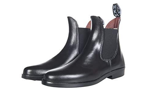 HKM Jodhpurgummistiefel -Soft/weit- mit Elastikeinsatz, schwarz, 43