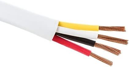 14-Gauge 4-Conductor in-Wall Loud Speaker Cable (100-Foot Spool)