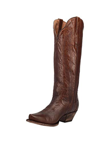 "Dan Post Boots Womens Valeria Snip Toe Dress Boots Knee High Low Heel 1-2"" - Brown - Size 8 B"