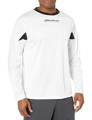Reebok Herren Meet You There Long Sleeve Jersey Shirt Trikot, weiß, Medium