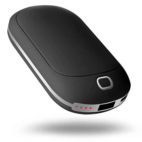 COMLIFE Calentador de Mano USB 5200mAh Cargador Móvil Portátil Calefactordor de Mano Eléctrico Recargable Batería Externa Reutilizable Calentador de Bolsillo Power Bank para Teléfono Celular Tableta