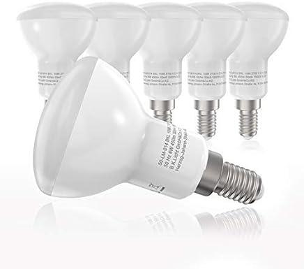LED Leuchtmittel I E14 Fassung Reflektorform I R50 I 5 x 6W 450LM Lampen I warm-weiß I 5er Pack I ersetzen 40W