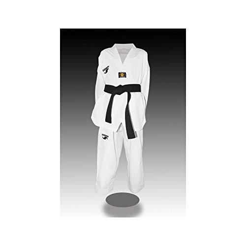Dorawon, Dobok Taekwondo Bordado Luxury Talla 200 cm, Cuello Blanco