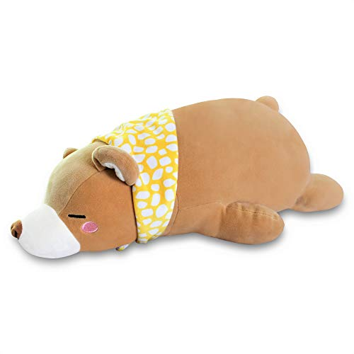 LazyPetz Plush Toy Stuffed Animal Bear with Scarf Ages 2 and Up 20 inches 50 Centimeters