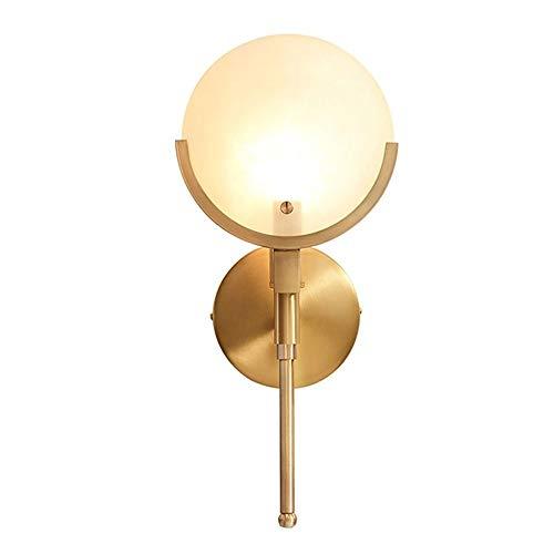 Pure eenvoudige koperen led-wandlamp Amerikaanse stijl woonkamer achtergrond wandlamp Nordic Lights creatieve schepen