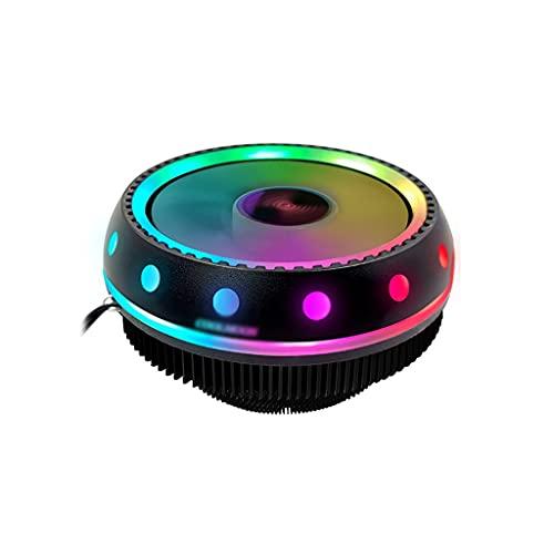 AWYST PC Cooler Bajo Perfil CPU Cooler Aluminio Disipador 90mm Luz Silenciosa Ventilador de Refrigeración Universal Socket Solución Disipador