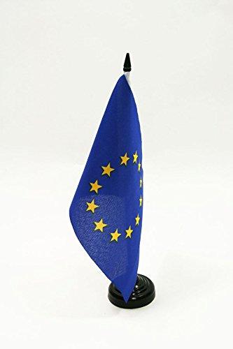 AZ FLAG Bandera de Mesa de Europa 21x14cm - BANDERINA de DESPACHO Union Europea - UU.EE 14 x 21 cm