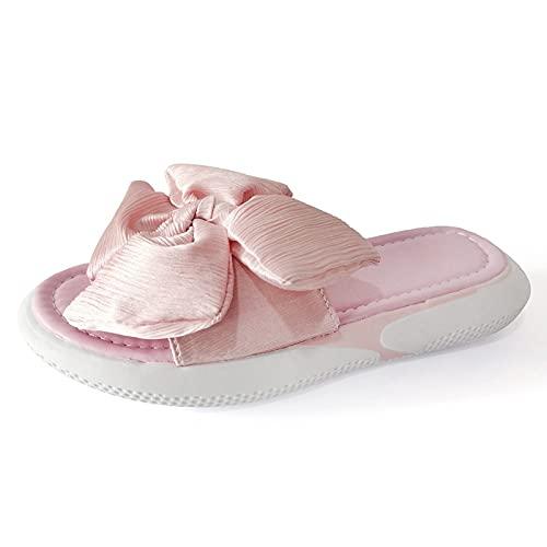 Luckycat Sandalias Mujer Verano 2021 Zapatillas Planas Tipo Slip-On Bowknot Cómodas Y Transpirables Zapatillas Exteriores Sandalias de Playa