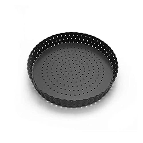 XIN NA RUI Moldes para Pizza Perforado Tar Quiche Bakeware Casa Pastel Non Stick Pizza Cacerola Ronda de Acero al Carbono Multifuncional con Herramientas de hornado de Base extraíble (Size : 2')