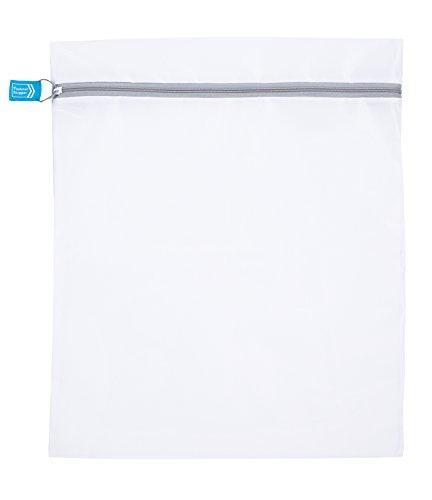 東和産業 洗濯ネット ホワイト 50×60cm ファスナーがひらかない 角型 大 22363