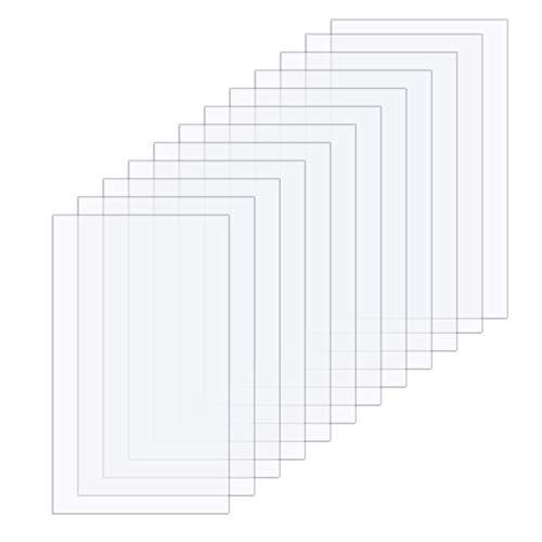 12 Stück (125x175x1 mm) Klare Acrylplatten Transparente Plexiglas Acrylglas Acryl Bltter für Fotorahmen Bilderrahmen Glas Ersatz DIY Projekte Display und Malerei Handwerk