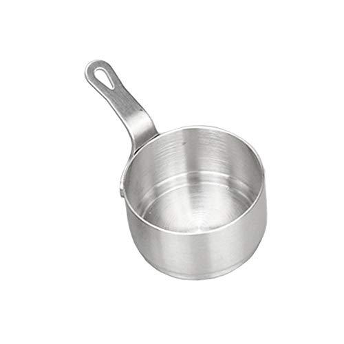 WWVAVA 2 Stück Edelstahl-Milchsauce Kochen Erwärmende Bohnen Pfanne Topf Topf 50ml