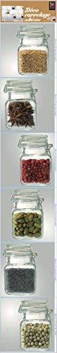 Décoration adhésive pour CARRELAGE 260556 Pots d'Épices, Polyvinyle, Multicolore, 15 x 15 x 0,1 cm