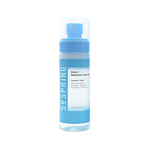 2-in-1 Moisture Lock Mist, Toner & Essence, Formulated with Camellia and Lotus, Korean Skincare, Clean Beauty, Vegan, Cruelty Free, and Paraben Free