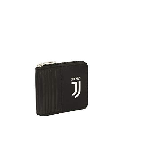 Portafoglio Juventus Black and White con Cerniera Zip Wallet Prodotto Ufficiale