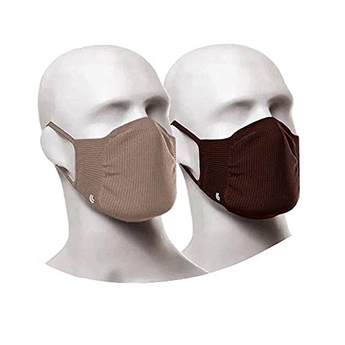 Máscara Zero Costura Vírus Bac-Off - Kit com 2 unidades (Adulto) Lupo Nude e Marrom