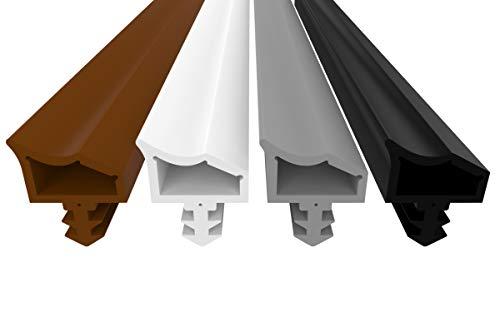 Türdichtung Weiß 5m - 4mm Nutbreite / 7mm Nuttiefe / 12mm Falz - Antidehnungsfaden Haustürdichtung Gummidichtung Zimmertürdichtung (weiss 5m)