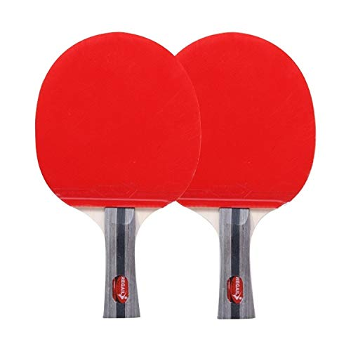 Review SPORTBAI REGAIL 8020 2 in 1 Long Handle Shakehand Ping Pong Racket + Ping Pong Ball Set for T...