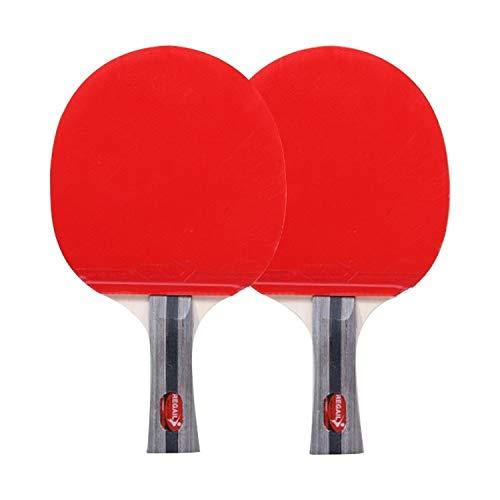 Review SPORTBAI REGAIL 8020 2 in 1 Long Handle Shakehand Ping Pong Racket + Ping Pong Ball Set for T...