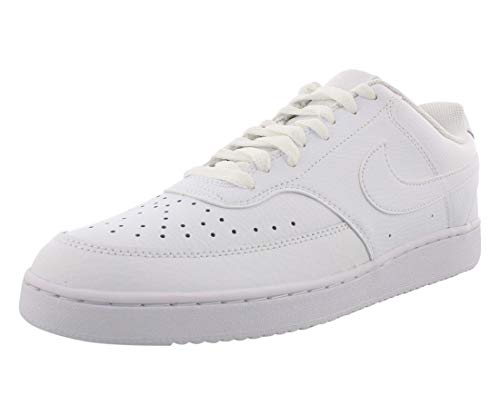 Nike Herren Court Vision Lo Sneaker, White/White-White, 40.5 EU