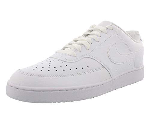 Nike Herren Court Vision Lo Sneaker, White/White-White, 44 EU