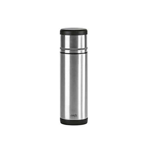 Emsa 509237 Isolierflasche, Mobil genießen, 500 ml, Safe Loc Pro Verschluss, Schwarz-Anthrazit, Mobility