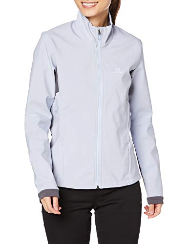 Salomon Damen Standard Agile Softshell Jacke, KENTUCKY BLUE/EBONY, L