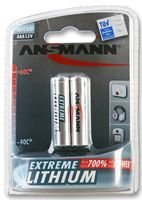 ANSMANN Extreme Lithium batterie AAA 2-pack - 1.5V, LR3 - haute capacité, extrêmement facilité, 700% plus de puissance