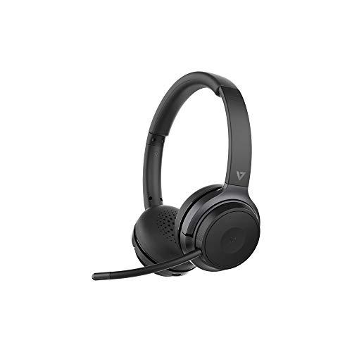 v7 bluetooth headphones wirelesses V7 HB600S Headset - Stereo - USB - Wireless - Bluetooth - 100 ft - 32 Ohm - On-Ear - Binaural - Black