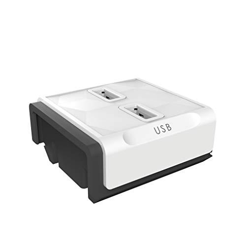 Allocacoc 8719186005298 Stromleisten Modul, Erweiterung zur PowerStrip Steckdosenleiste, weiß, 2 USB Anschlüsse 2.4A Gesamtleistung