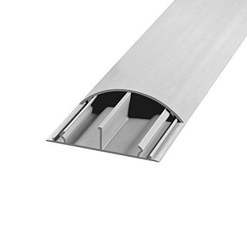 Fussboden TV Kabelkanal Kabelbrücke selbstklebend 1 m grau 50 x 12 mm Wand Boden Fußboden halbrund rund ARLI 1 Stück
