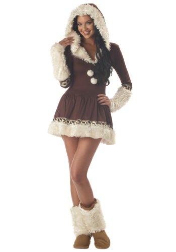 California Costumes Women's Eskimo Kisses Costume,Brown/White,X-Large