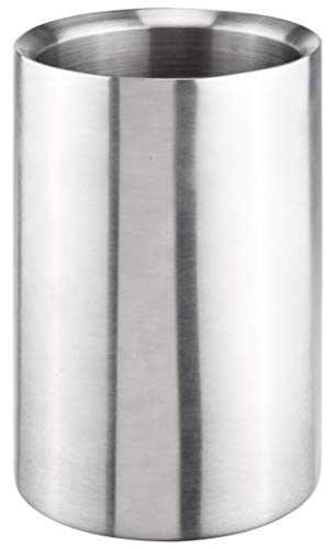 Bambelaa! Weinkühler Sektkühler Flaschenkühler Kunststoff doppelwandig (Edelstahl, 1 Stück)