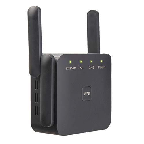 CareMont Repetidor WiFi de 5 GHz Extensor WiFi InaláMbrico 1200Mbps Amplificador WiFi 802.11AC Amplificador de SeeAl Wi Fi de Largo Alcance 2.4G Enchufe de la UE