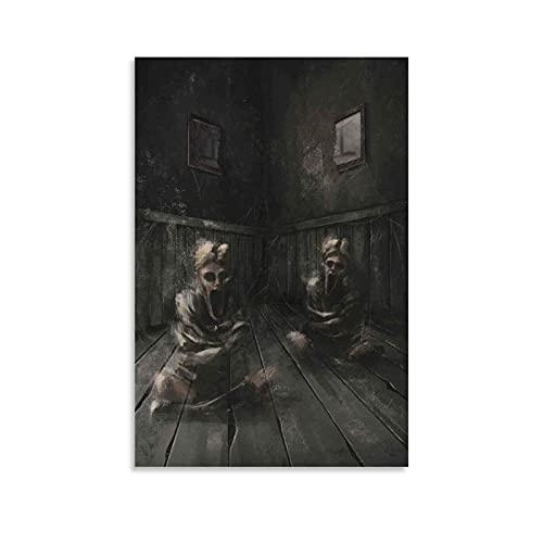 wuqian Poster mit den Zwillings-Zimmern, dekoratives Gemälde, Leinwand, Wandkunst, Wohnzimmer, Poster, Schlafzimmer, Gemälde, 40 x 60 cm