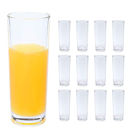 copdrel Highball Glasses Set of 12 Clear Base Tall Bar Drinking Cups 9oz265ML Drinking Glasses For Water Juice Beer Wine Whiskey and Cocktails