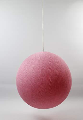 Cotton Ball Lights - Lampadario singolo in cotone, 25 cm, colore: Rosa