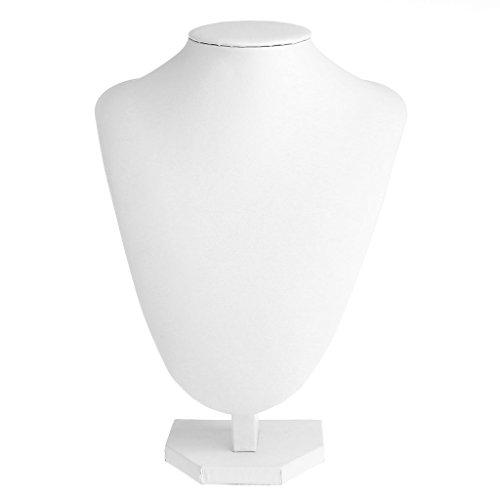 VONGEE Maniquí de Cuero de imitación, Collar, Colgante, joyería, Busto, Cuello, Soporte de exhibición, Soporte