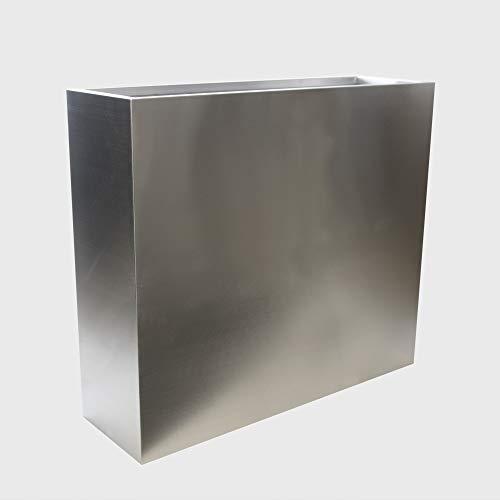 Köhko® Designer-Hochbeet aus Edelstahl Viva 85 x 30 x 73 cm   matt gebürsteter Pflanztrog eckig & groß