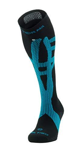 Enforma Strümpfe |Schienbeinkantensyndrom Kompressionsstrümpfe | Tibial Stress Tape Socken | Herren Damen | Grau Medium