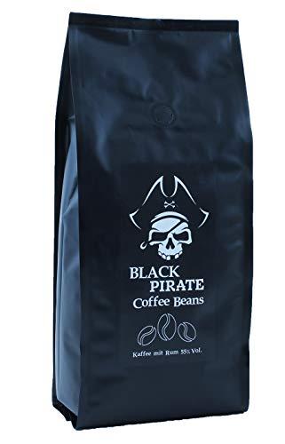 Black Pirate Coffee - Aromatisierter Kaffee mit echtem Jamaika Rum (1000g Ganze Bohne)