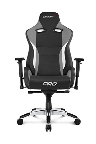 AKRacing Masters Series Pro Luxury XL Gaming Chair with High Backrest, Recliner, Swivel, Tilt, 4D...