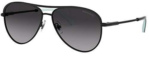 Tiffany & Co. TF 3062 Gradient Aviator Sunglasses for Women Black 60073C