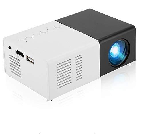 Bewinner Tragbarer Mini-Videoprojektor LED USB HD Video-Beamer Unterstützung MPG, AV, TS, MOV, MKV, DAT, MP4, VOB, 1080P HDMI-Heimkino-Projektor, Mini-Multimedia-Smart-Projektor, Party-Geschenk(EU)