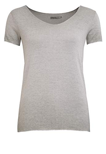 Damenshirt T-Shirt Feinstrick mit Lurexkante | Oliv | Größe: L | modisch | Must-Have für den Sommer