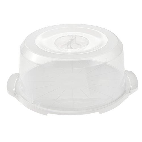 keeeper Portatorte con sistema di blocco, Contenitore Keep-Fresh, Ø 37 cm x 15 cm, Fabrizio, Bianco/Trasparente