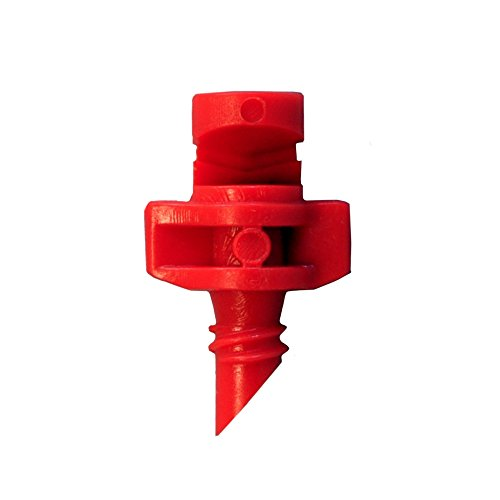 60 Pack RED xGarden 180 Degree Micro Sprayer Fan Jet - For Hydroponic and Aeroponic Misters and Cloners