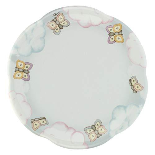 THUN ® - Piatto - Linea Pioggia di colori - multiuso grande - Porcellana - ø 31 cm
